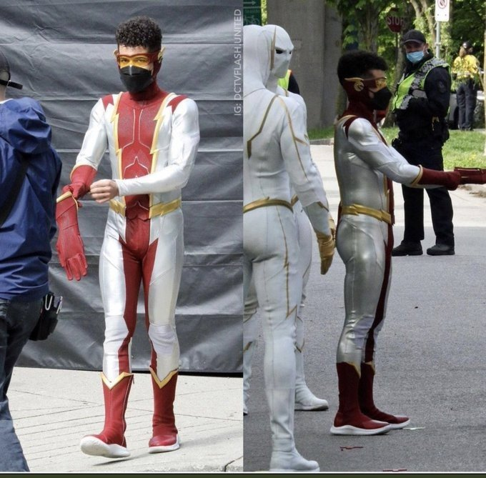 The Flash   Fotos dos bastidores revelam o visual de Bart Allen